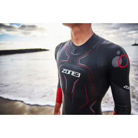 Zone3 Aspire Traje Triatlón Hombre, black/gun metal/red
